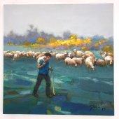 Koyunlar Ve Çoban Tablo