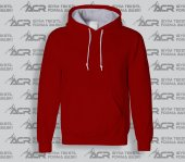 Rk004 Kırmızı Renkli Kapüşonlu Sweatshirt...