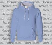 Rk011 Açık Mavi Renkli Kapüşonlu Sweatshirt Toptan Fiyatına Kapşonlu Sweat Unisex Kalıp Cepli Hoodie