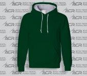 Rk013 Koyu Yeşil Renkli Kapüşonlu Sweatshirt Toptan Fiyatına Kapşonlu Sweat Unisex Kalıp Cepli Hoodie