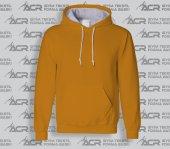 Rk014 Turuncu Renkli Kapüşonlu Sweatshirt...