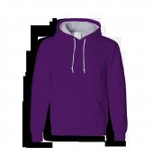 Rk015 Mor Renkli Kapüşonlu Sweatshirt Toptan Fiyatına Kapşonlu Sweat Unisex Kalıp Cepli Hoodie