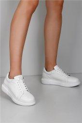 Gön Hakiki Deri Kadın Ayakkabı 45171 Beyaz