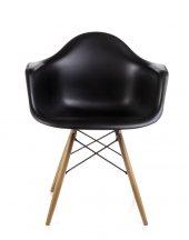 Dorcia Home Kolçaklı Eames Sandalye Siyah
