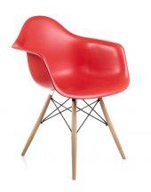 Dorcia Home Kolçaklı Eames Sandalye Kırmızı