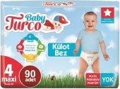 Baby Turco Külot Bebek Bezi Jumbo Beden 4 (8 18kg) Maxi 90 Adet (3pk*30)