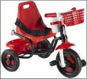 Babyhope 101 Prens Üçteker Sepetli Ve Suluklu Bisiklet Kırmızı