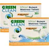 U Green Clean Bitkisel Bulaşık Makinesi Tableti 30'lu X 2 Adet