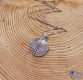 Gümüş Deniz Kabuğu Bayan Hediyelik Kolye-2