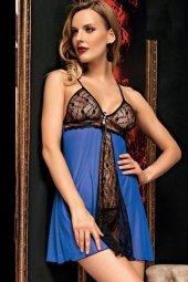 Piaff Kadın Dantel Detaylı Tül Gecelik String Takım PF7061-2