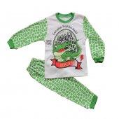 Süpermini Timsahlı Kız Ve Erkek Çocuk Mevsimlik Pijama Takımı