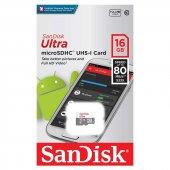 Sandisk Ultra 16 Gb 80 Mb S Micro Sd Hafıza...