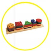 Geometrik Şekiller 21 Parça Eğitici Bloklar...
