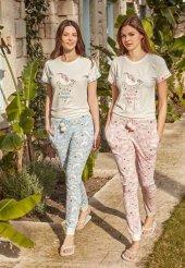 Feyza 3247 Bayan Kısa Kol Yazlık Pijama Takımı
