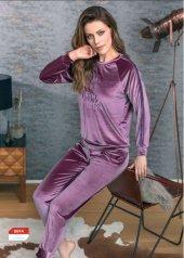 Anıl Bayan Kadife Pijama Takımı Yeni Sezon 9614