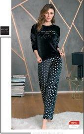 Anıl Bayan Yeni Sezon Kadife Kışlık Pijama Takımı 9615