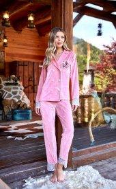 Berrak Bayan Yeni Sezon Kadife Pijama Takımı 643
