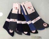 6 Lı Paket Gülçek Erkek Koton Dikişsiz Soket Çorap