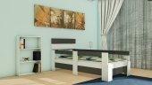 Nevramo Yuka Montessori Karyola Beyaz Antrasit Gri 90x190 Yatağa Uyumlu