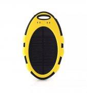 Olix Güneş Enerjili Solar Taşınabilir Şarj Powerbank 8000 Mah Sarı