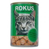 Rokus Adult Cat Yürekli Kedi Konserve Mama 12...