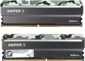 GSKILL SniperX 16GB (2x8) DDR4 3000Mhz CL16 1.35V Orman Kamuflaj  (F4-3000C16D-16GSXFB)