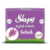 Sleepy Leylak Kokulu Islak Havlu 3x50 150 Yaprak