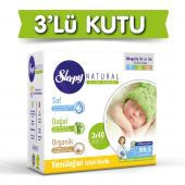 3lü Sleepy Natural Yenidoğan Islak Pamuklu Havlu 3X40 360 Yaprak