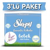 3lü Sleepy Lavanta Kokulu Islak Havlu 3x50 450 Yaprak