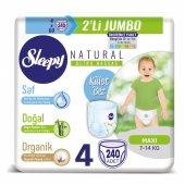 Sleepy Natural Külot Bez 4 Beden Maxi 4X2li Jumbo 240 Adet 7-14 Kg