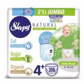 Sleepy Natural Külot Bez 4+ Beden Maxi Plus 4X2Lİ Jumbo 208 Adet