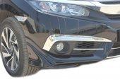 Honda Civic Fc5 Krom Sis Farı Kaşı 2 Parça 2016 So...