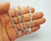 Forse Gümüş Erkek Kolye Zincir Kalın 5mm-4