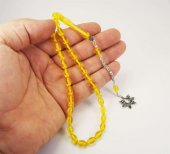 Sarı Sıkma Kehribar Gümüş Kral Zincirli 1.Kalite Çam Kokulu-4