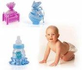 Bebek Mevlüt Şekeri 12 Adet Birden Mavi Bebek Arabası