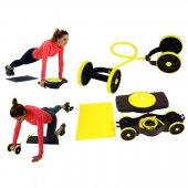 Fluss Spor Egzersiz Aleti Tekerlekli Karın Kası Fitness Yoga Seti