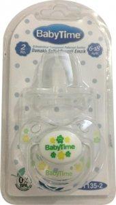 Baby Time Damaklı Şeffaf Gövdeli Desenli Koruma Kapaklı Emzik 6 18 Ay Bt135 2 Yeşil