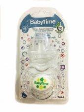Baby Time Kiraz Uçlu Şeffaf Gövdeli Koruma Kapaklı Emzik 18+ Ay Bt148 3 Yeşil