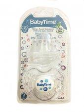 Baby Time Kiraz Uçlu Şeffaf Gövdeli Koruma Kapaklı Emzik 18+ Ay Bt148 3 Mavi