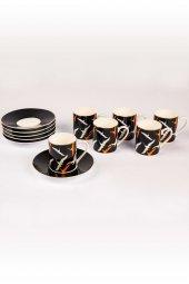 6lı Leylekli Porselen Fincan Seti-2