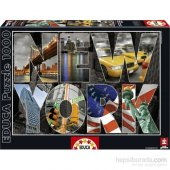 Educa New York Collage 1000 Parça Puzzle