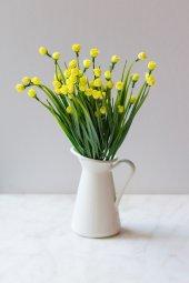 Italyan Saksıda Sarı Chetori To Yapay Çiçek