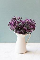 Italyan Saksıda Pembe Yonca Yapay Çiçek