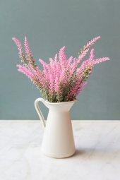 Italyan Saksıda Pembe Provence Yapay Çiçek Lavanta