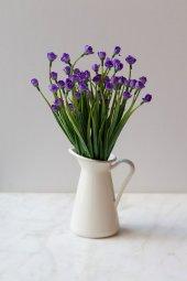 Italyan Saksıda Mor Chetori To Yapay Çiçek