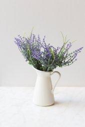 Italyan Saksıda Mor Narkissos Yapay Çiçek