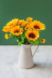Italyan Saksıda Sun Flower Yapay Çiçek