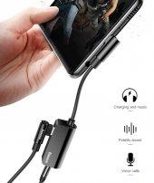 Meizu 16s Pro Type-C to 3.5mm+Type C Kulaklık Çoklayıcı Adaptör L45-2