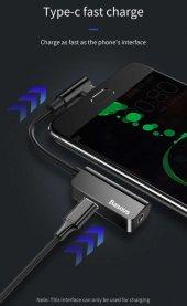 Meizu 16s Pro Type-C to 3.5mm+Type C Kulaklık Çoklayıcı Adaptör L45-6