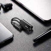 Meizu 16s Pro Type-C to 3.5mm+Type C Kulaklık Çoklayıcı Adaptör L45-9